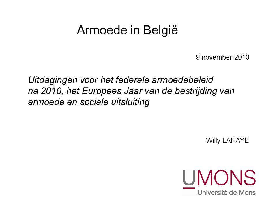 Armoede in België Uitdagingen voor het federale armoedebeleid