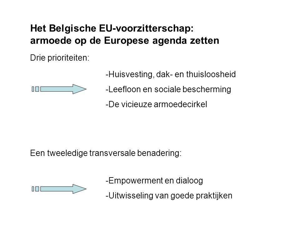 Het Belgische EU-voorzitterschap: armoede op de Europese agenda zetten