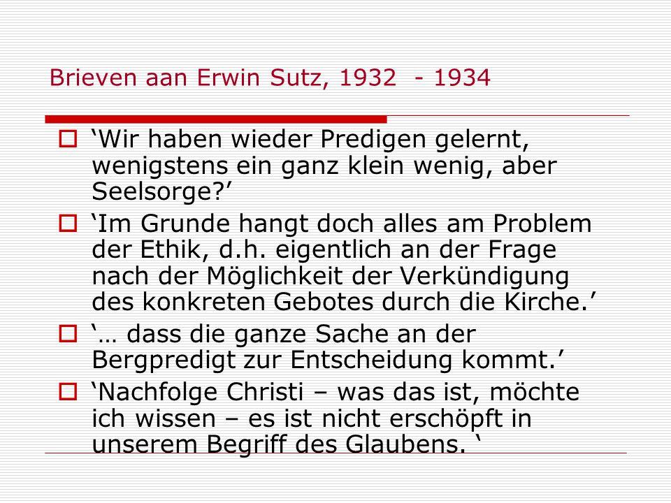 Brieven aan Erwin Sutz, 1932 - 1934