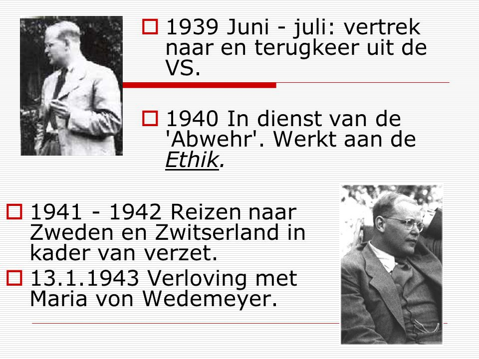 1939 Juni - juli: vertrek naar en terugkeer uit de VS.