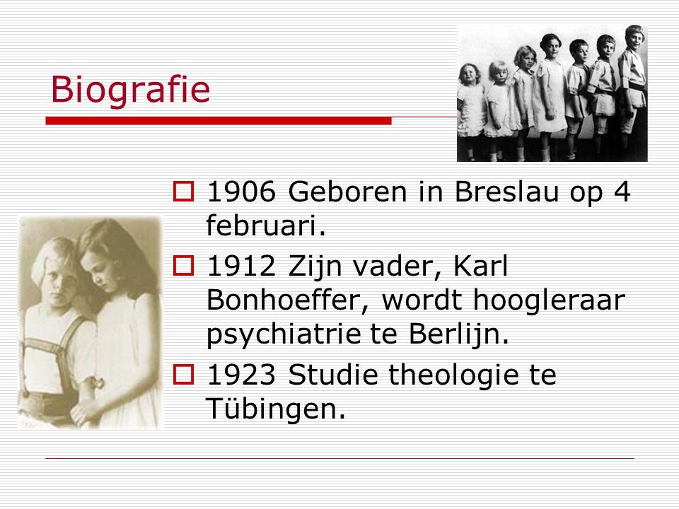Biografie 1906 Geboren in Breslau op 4 februari.