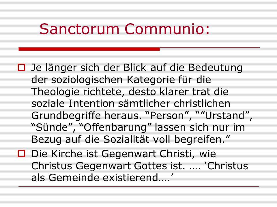 Sanctorum Communio: