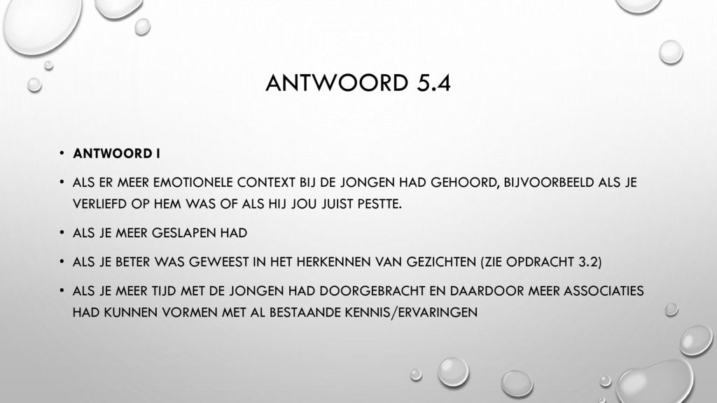 Antwoord 5.4 Antwoord i.