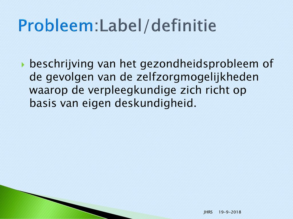 Probleem:Label/definitie