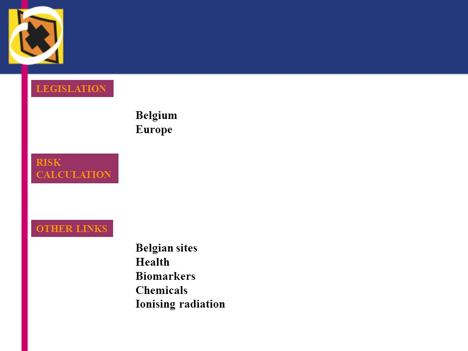 Belgium Europe Belgian sites Health Biomarkers Chemicals