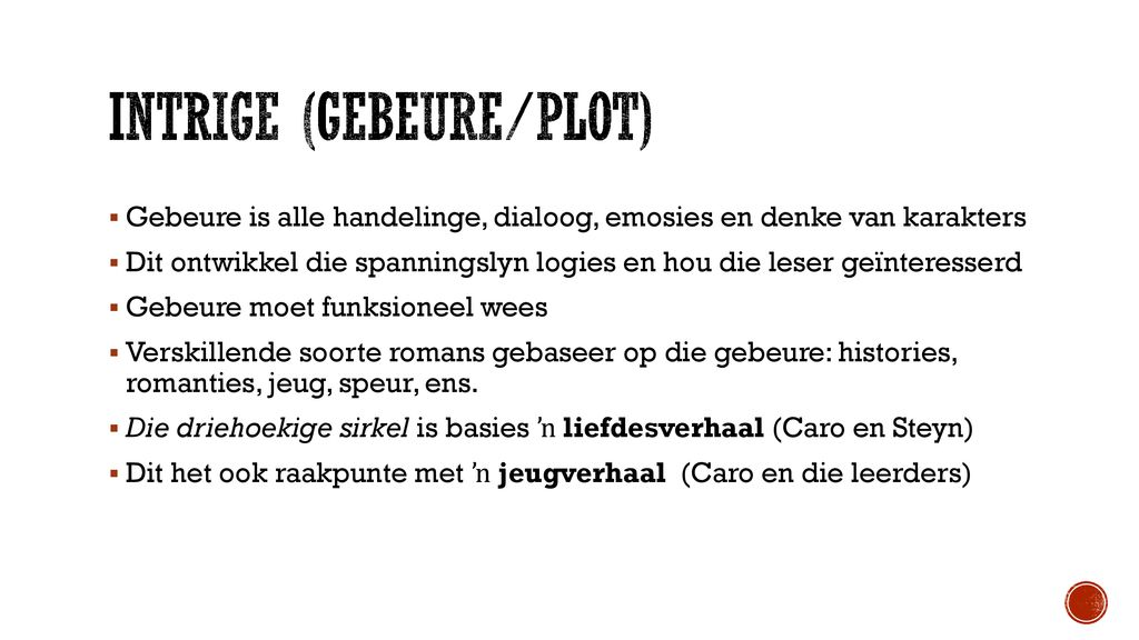Intrige (gebeure/plot)