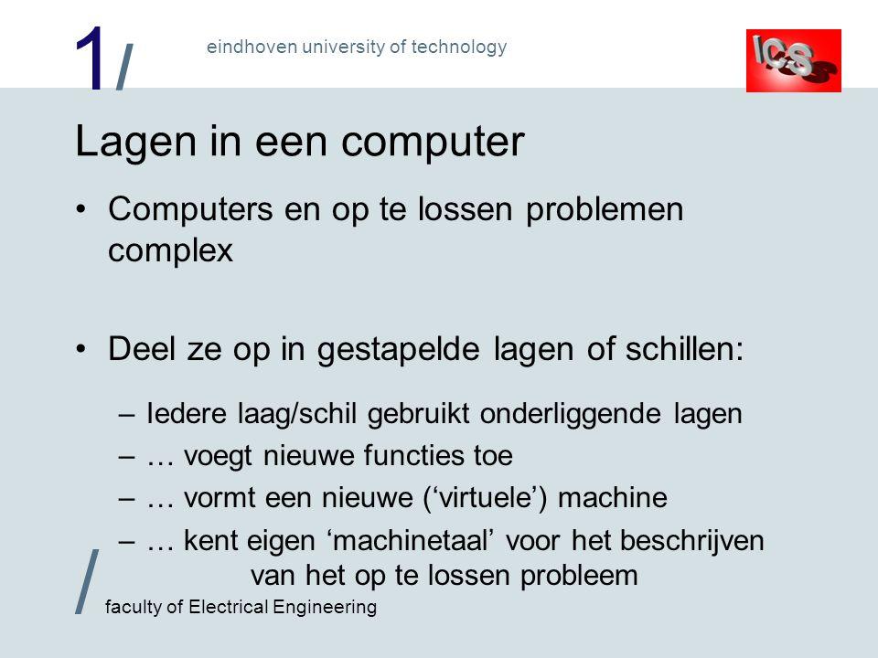 Lagen in een computer Computers en op te lossen problemen complex
