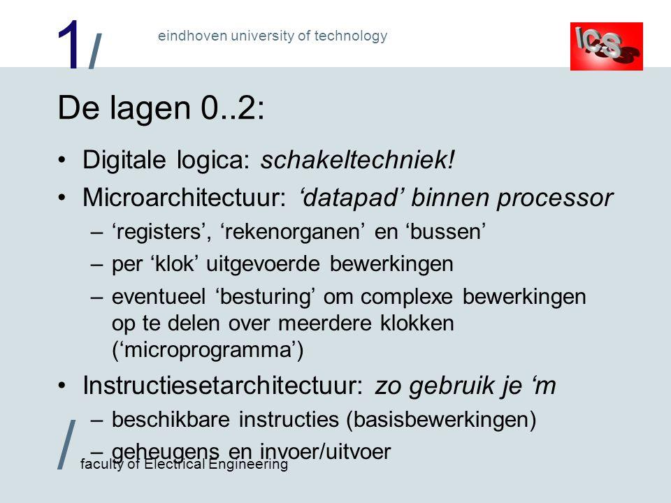 De lagen 0..2: Digitale logica: schakeltechniek!