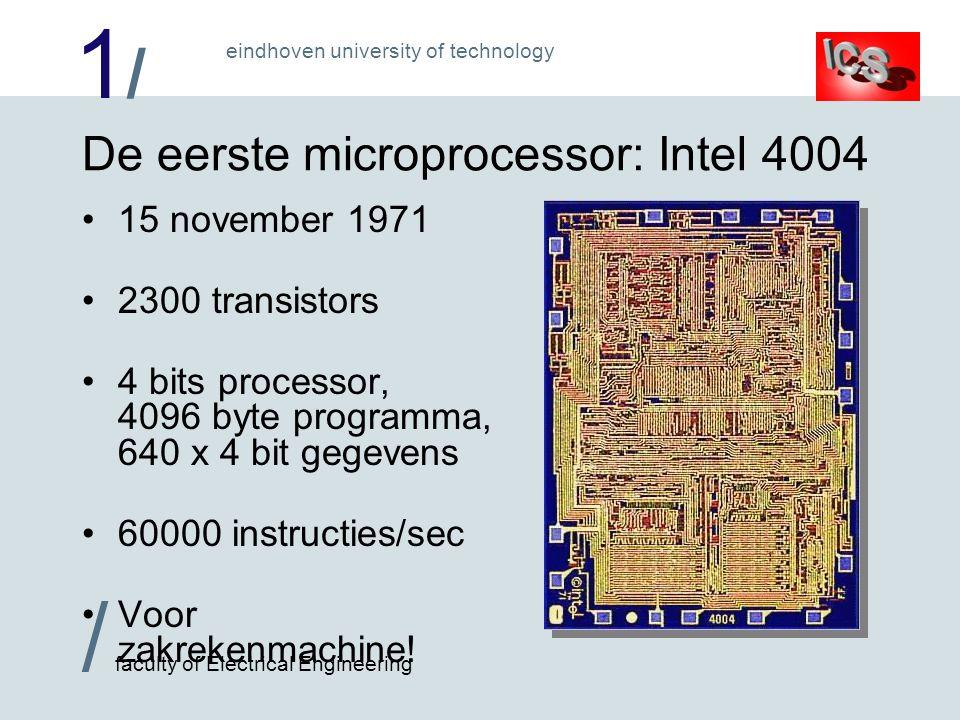 De eerste microprocessor: Intel 4004
