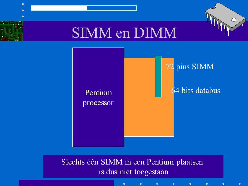 Slechts één SIMM in een Pentium plaatsen