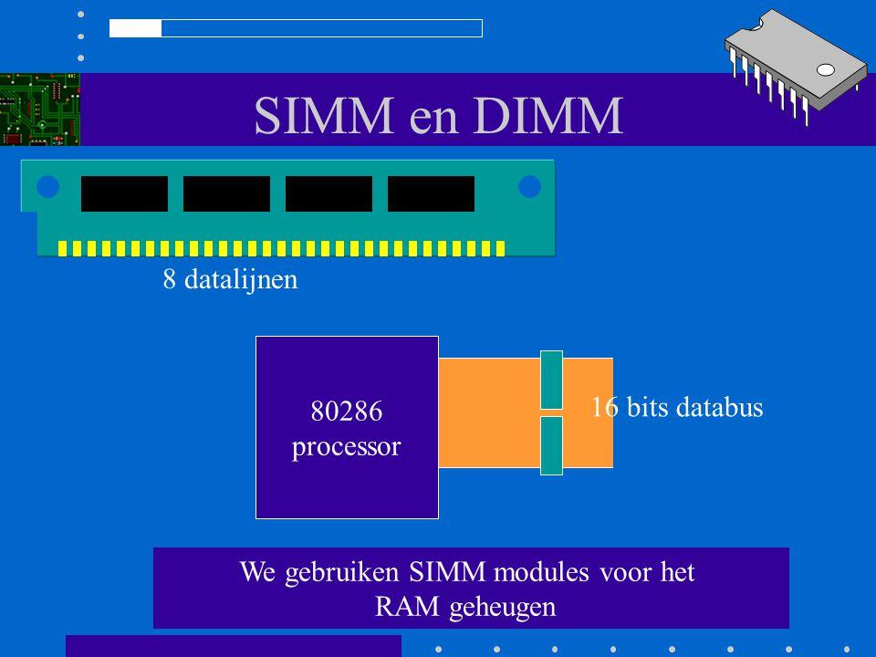 We gebruiken SIMM modules voor het