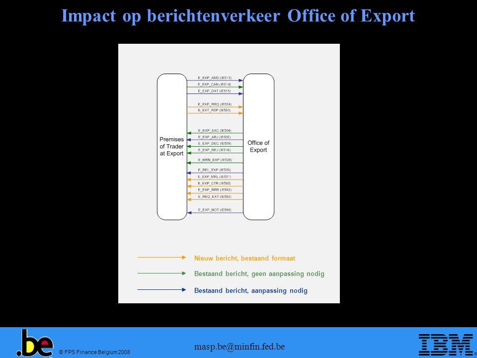 Impact op berichtenverkeer Office of Export