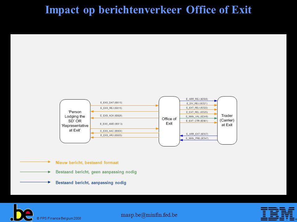 Impact op berichtenverkeer Office of Exit