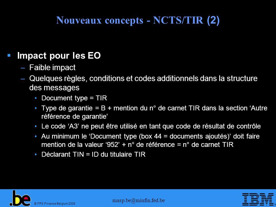 Nouveaux concepts - NCTS/TIR (2)