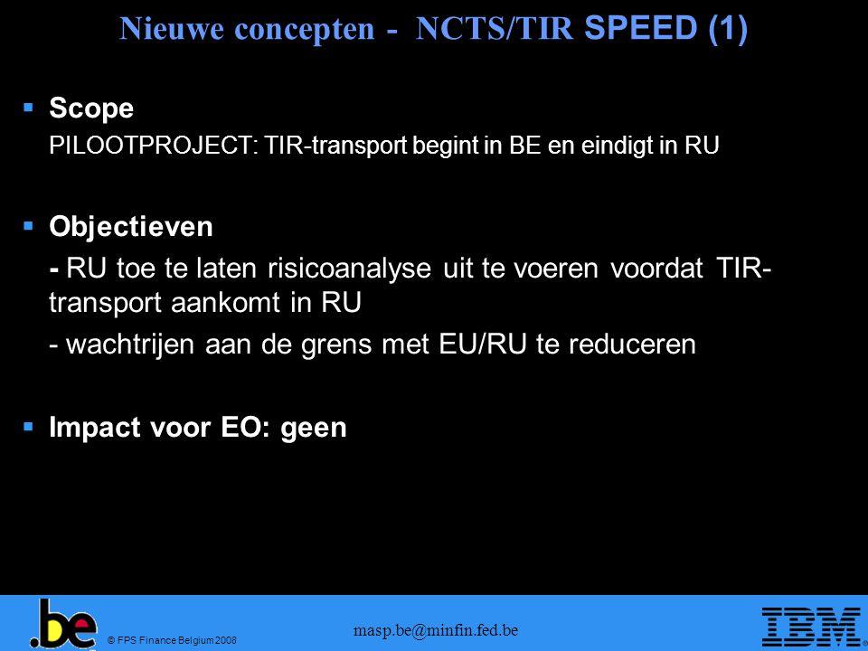 Nieuwe concepten - NCTS/TIR SPEED (1)