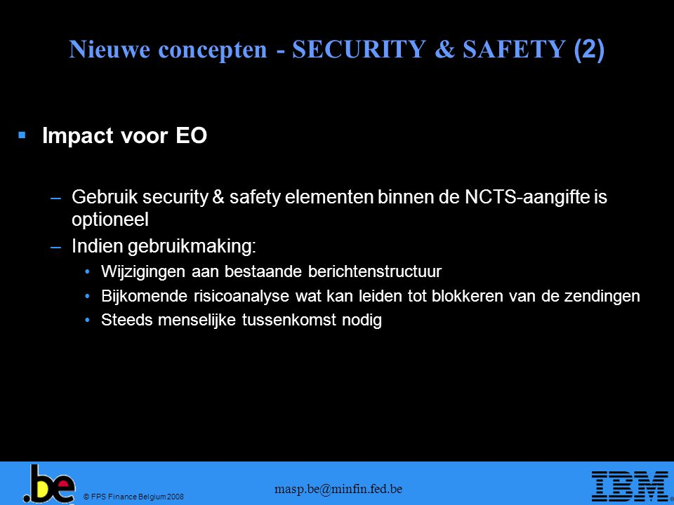 Nieuwe concepten - SECURITY & SAFETY (2)