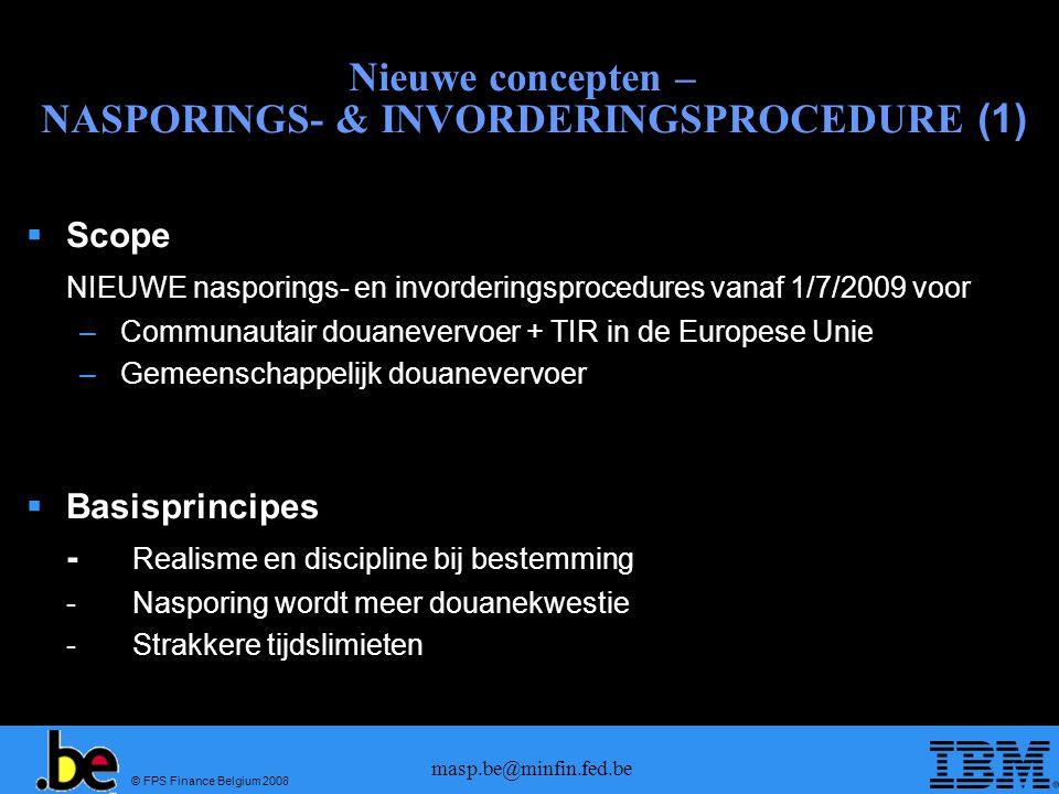 Nieuwe concepten – NASPORINGS- & INVORDERINGSPROCEDURE (1)