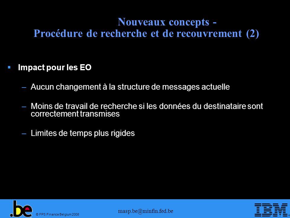 Nouveaux concepts - Procédure de recherche et de recouvrement (2)
