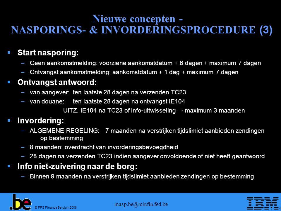 Nieuwe concepten - NASPORINGS- & INVORDERINGSPROCEDURE (3)