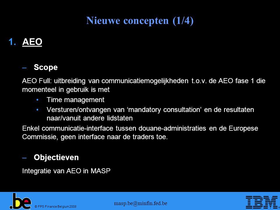 Nieuwe concepten (1/4) AEO