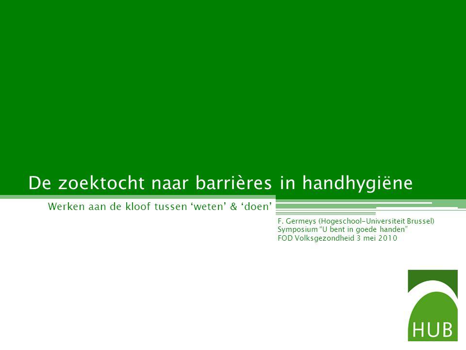 De zoektocht naar barrières in handhygiëne