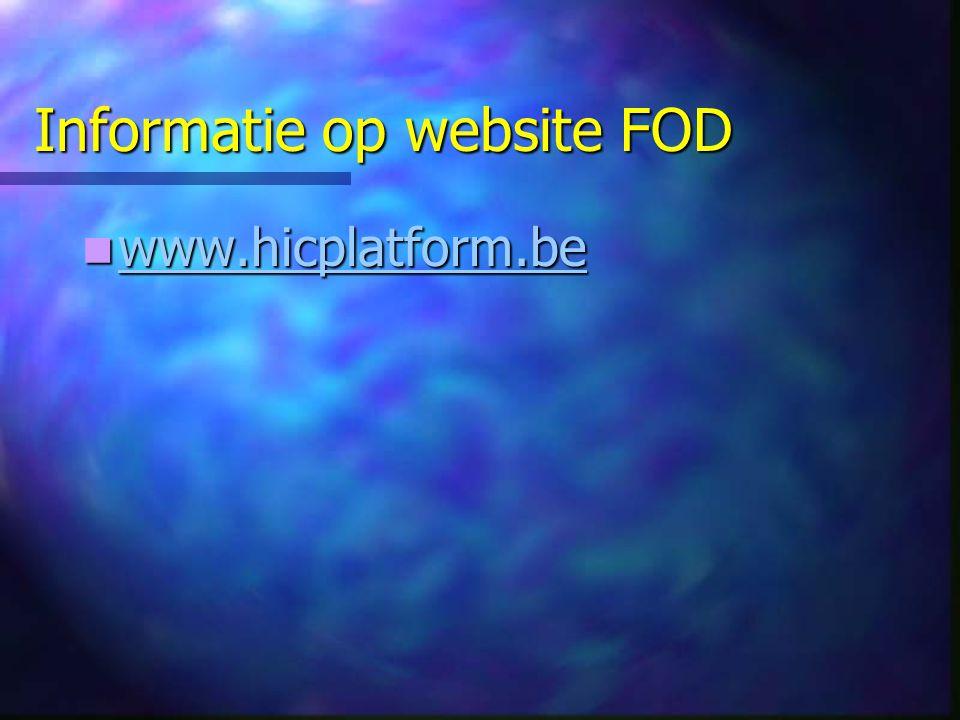 Informatie op website FOD