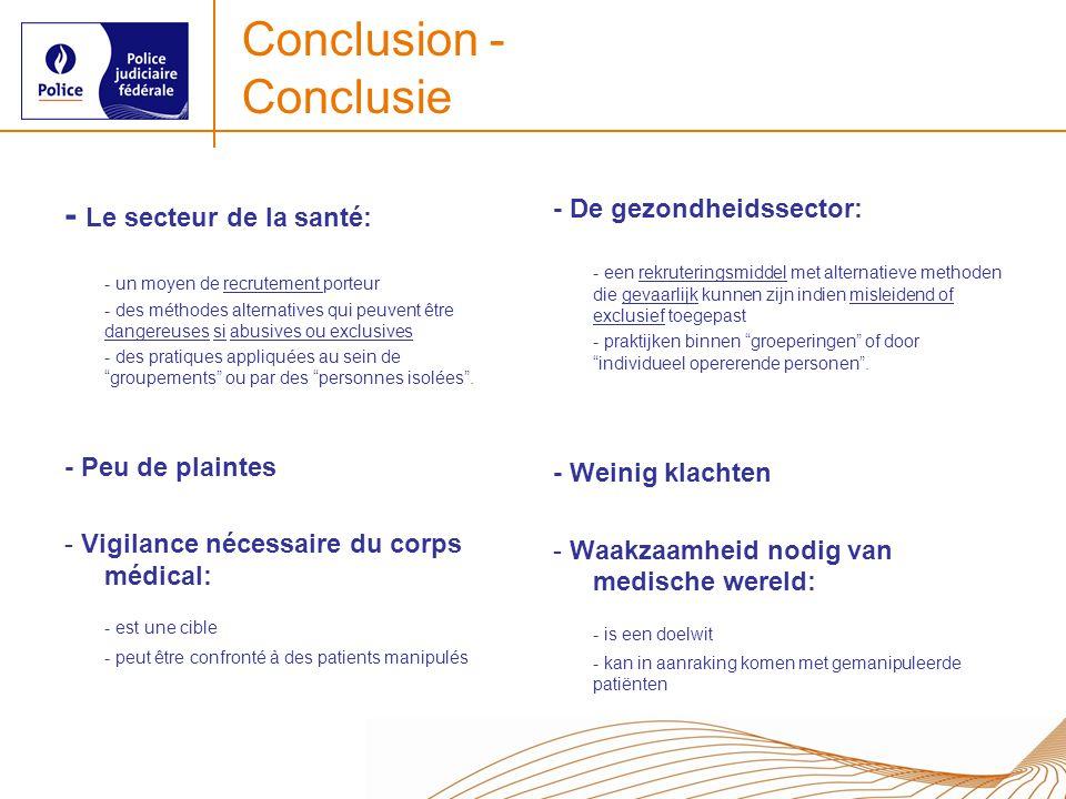 Conclusion - Conclusie