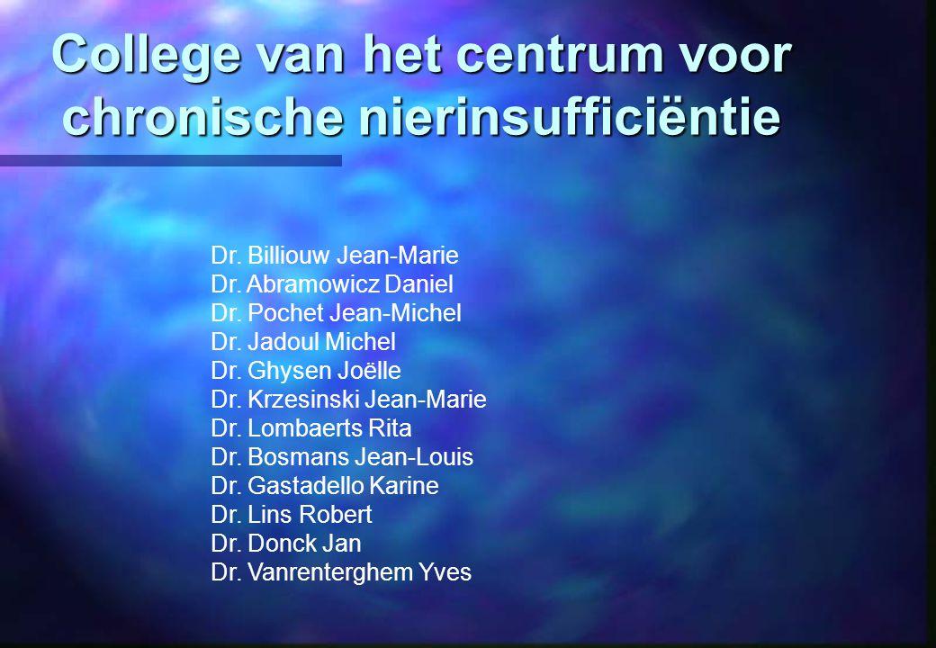 College van het centrum voor chronische nierinsufficiëntie