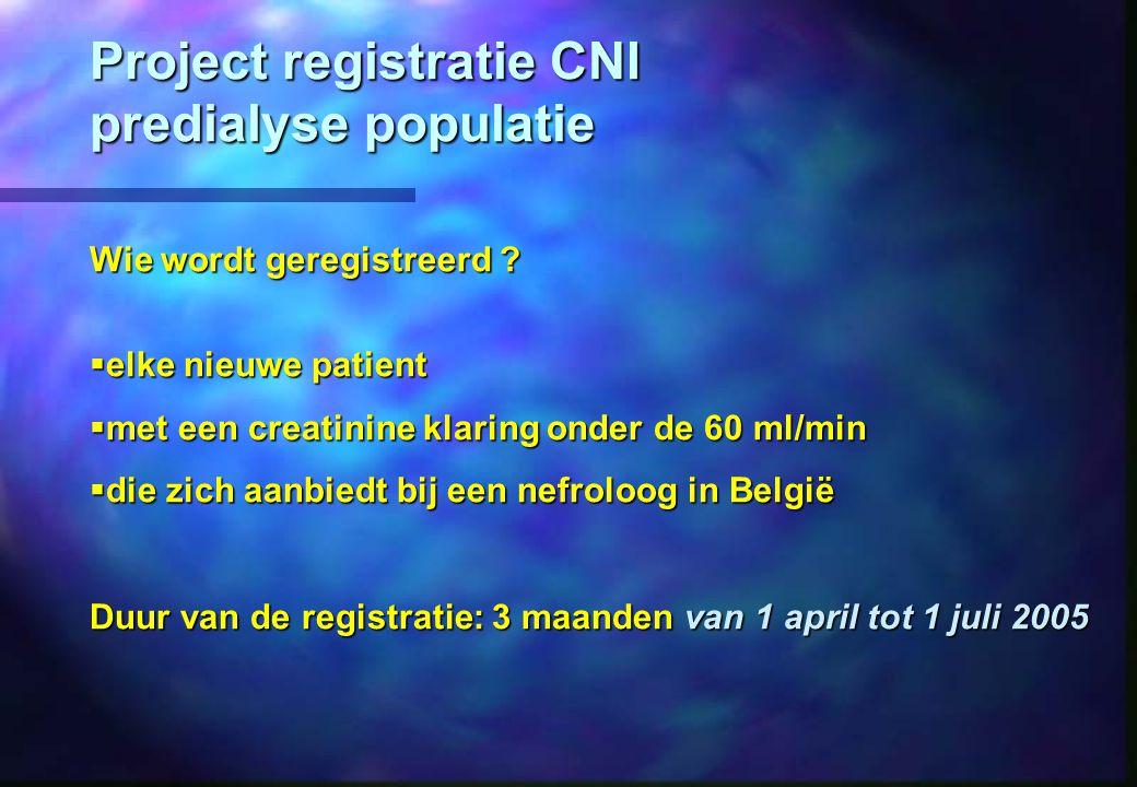 Project registratie CNI predialyse populatie