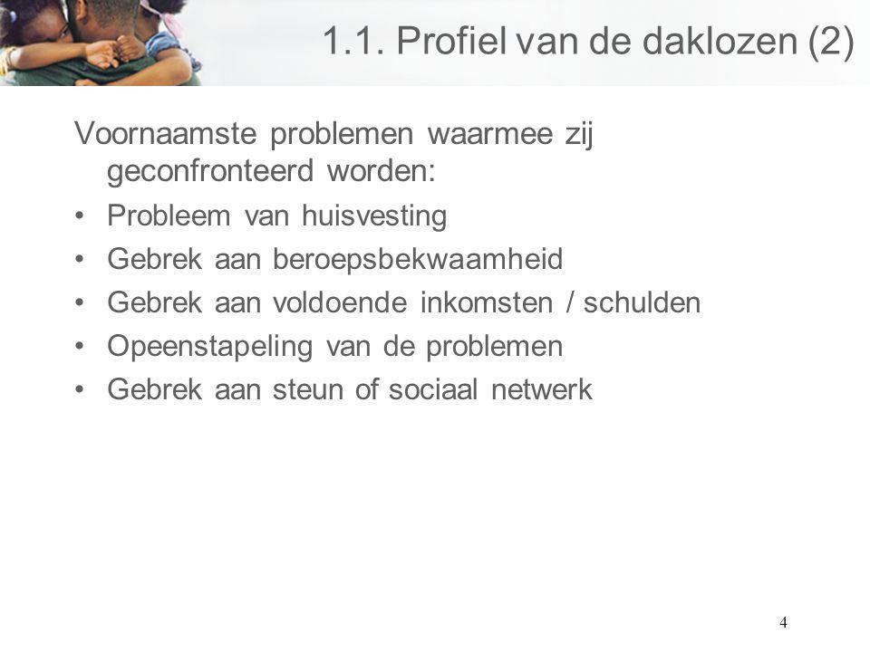 1.1. Profiel van de daklozen (2)