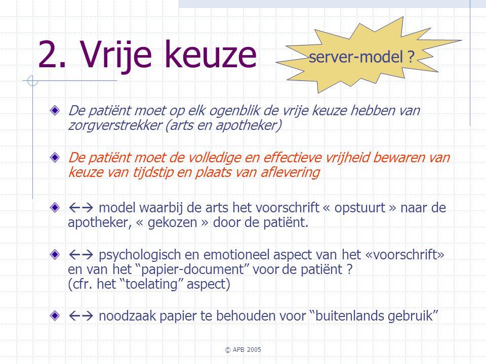 2. Vrije keuze server-model