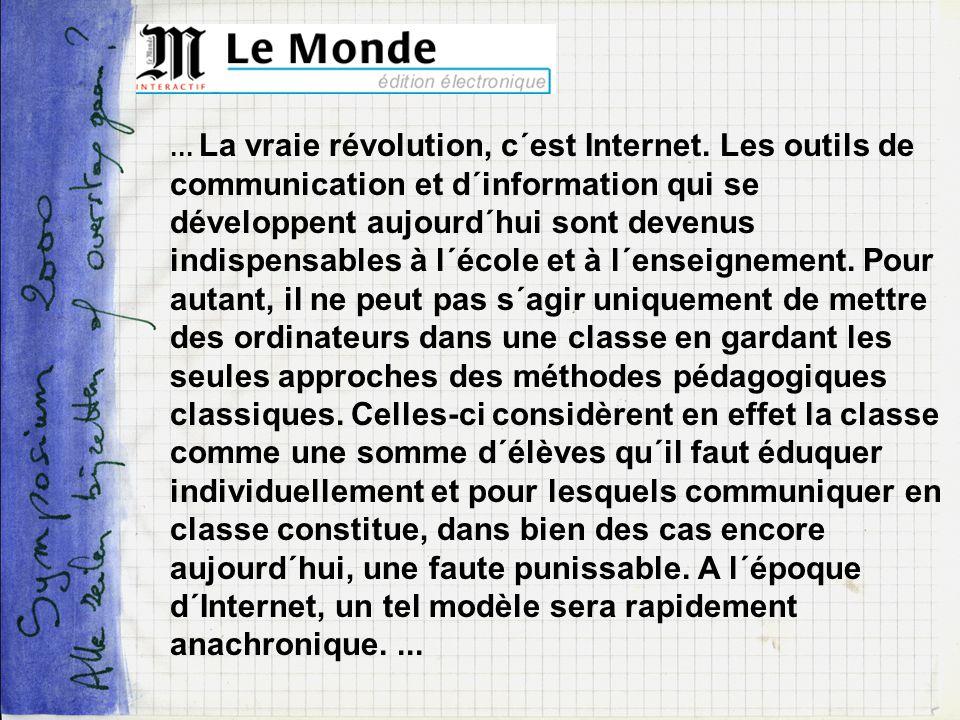 La vraie révolution, c´est Internet