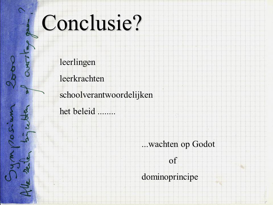 Conclusie leerlingen leerkrachten schoolverantwoordelijken