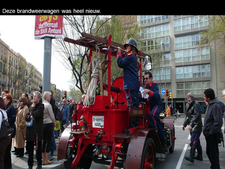 Deze brandweerwagen was heel nieuw.