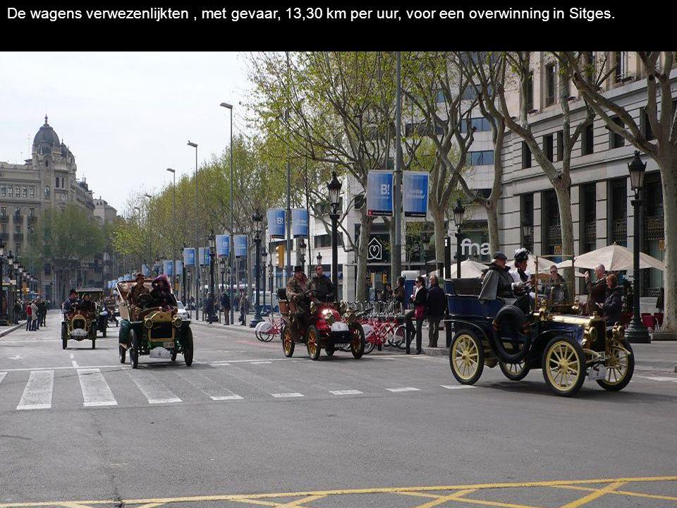 De wagens verwezenlijkten , met gevaar, 13,30 km per uur, voor een overwinning in Sitges.