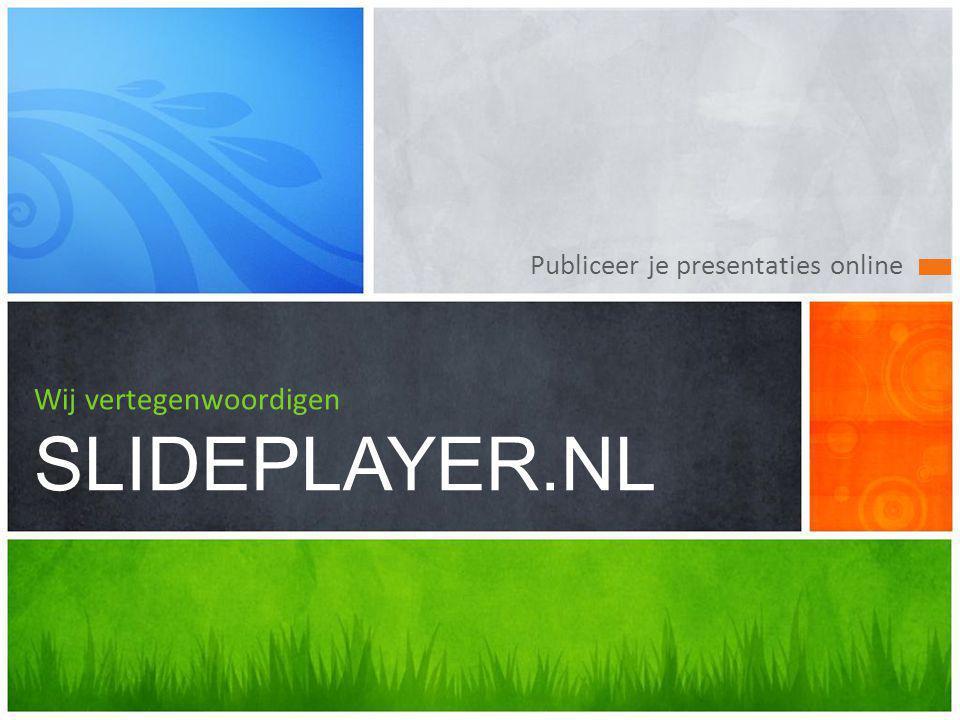 Wij vertegenwoordigen SLIDEPLAYER.NL