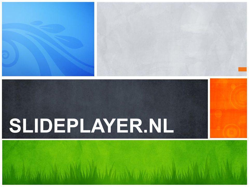 SLIDEPLAYER.NL Wat is je boodschap
