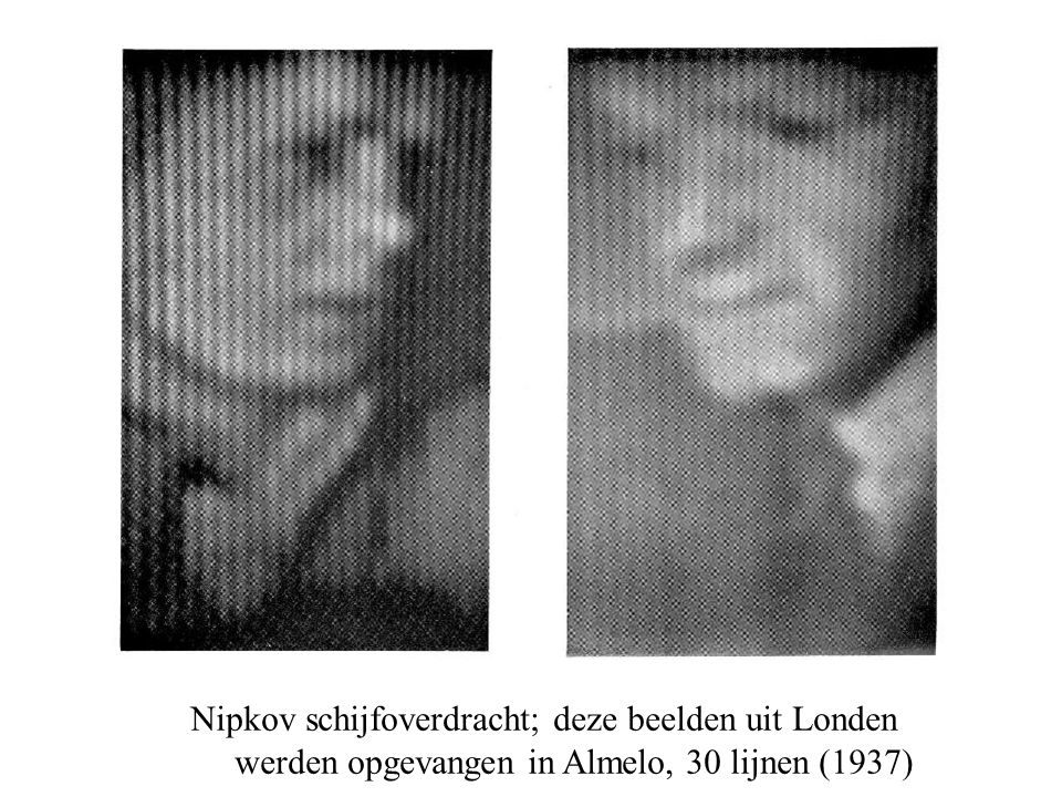 Nipkov schijfoverdracht; deze beelden uit Londen