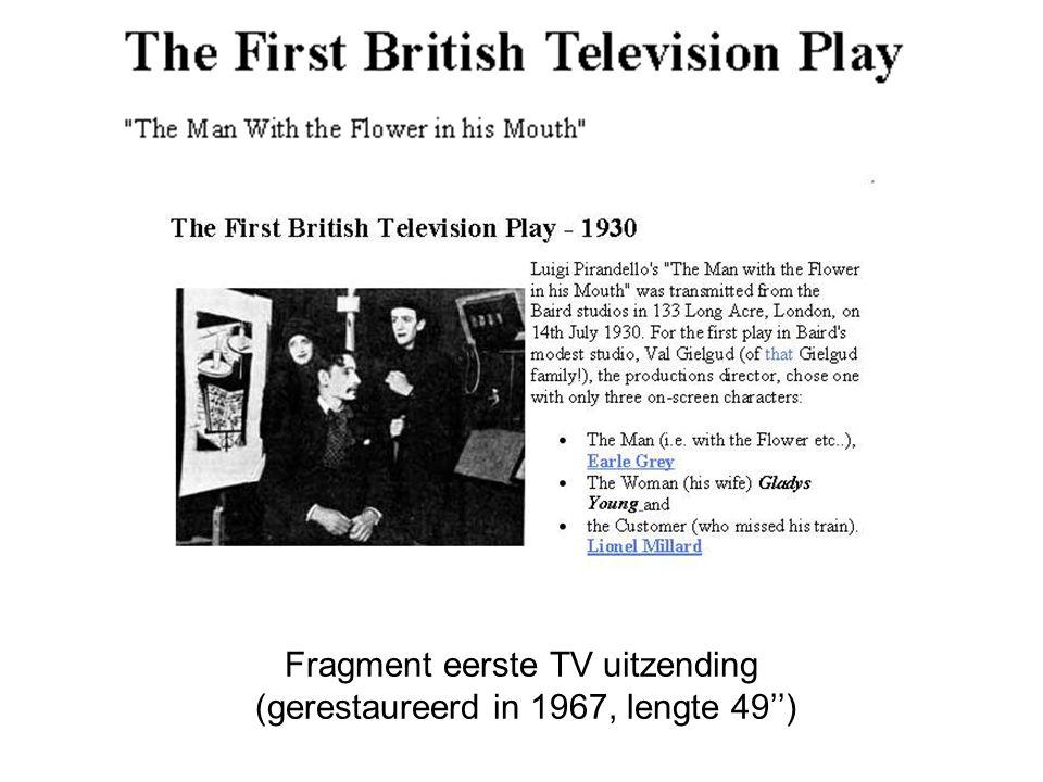 Fragment eerste TV uitzending (gerestaureerd in 1967, lengte 49'')