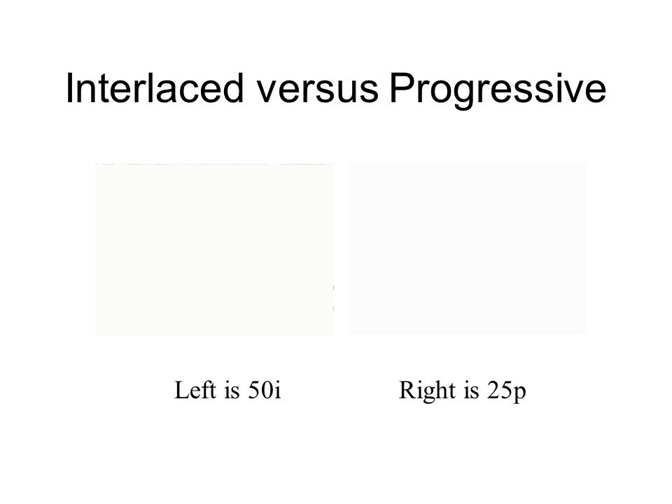 Interlaced versus Progressive