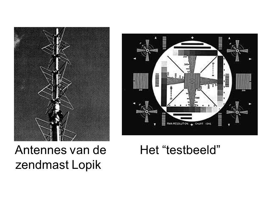 Antennes van de Het testbeeld