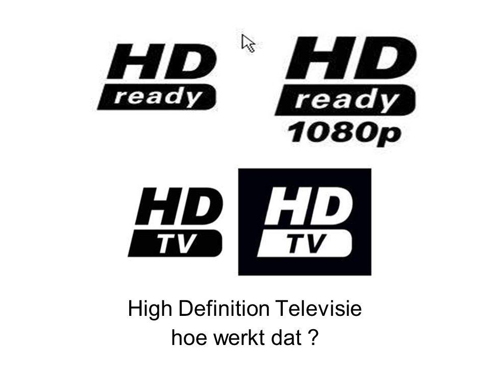 High Definition Televisie hoe werkt dat