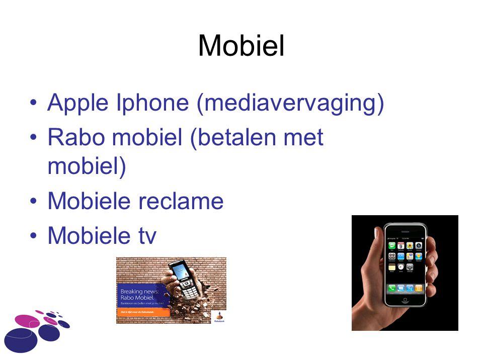 Mobiel Apple Iphone (mediavervaging) Rabo mobiel (betalen met mobiel)
