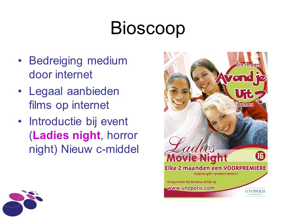 Bioscoop Bedreiging medium door internet