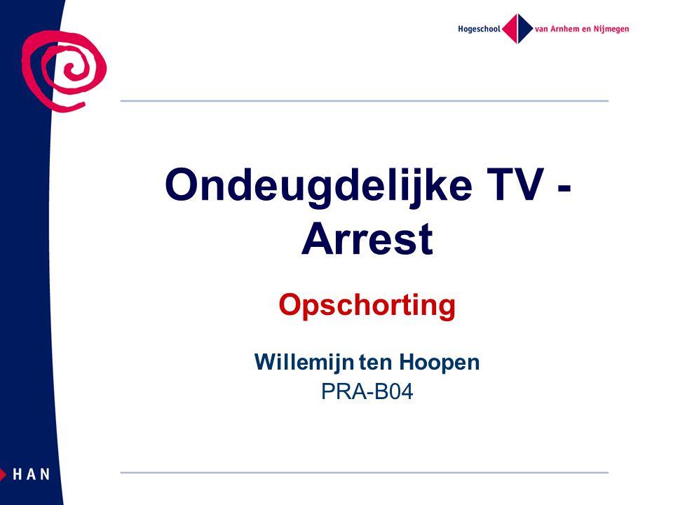 Ondeugdelijke TV -Arrest
