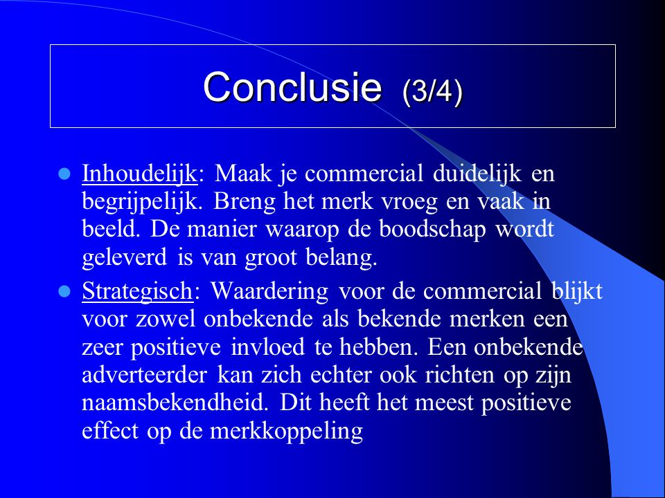 Conclusie (3/4)