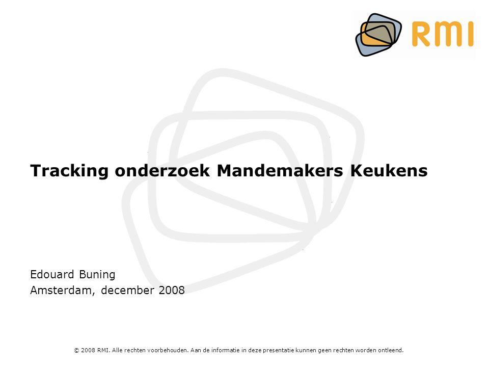 Tracking onderzoek Mandemakers Keukens