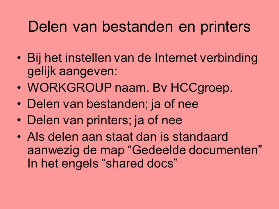 Delen van bestanden en printers