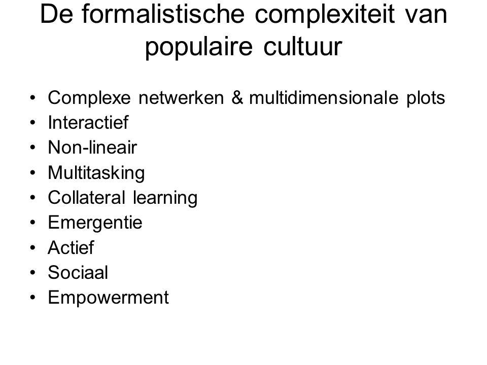 De formalistische complexiteit van populaire cultuur