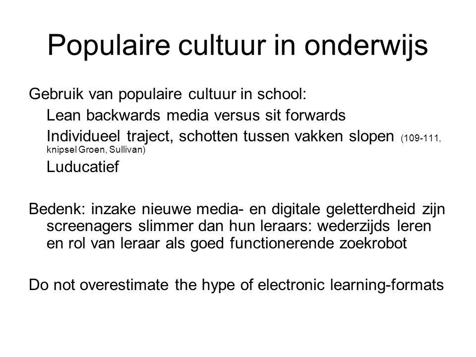 Populaire cultuur in onderwijs